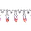 Rhinestone Trim Navette 5Yd Spool 15mm Hyacinth Aurora Borealis/silver